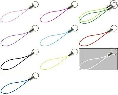 Lot  25 Cell Phone Strap Lariat with Split Ring End   Mixed COLOR LOT Colored