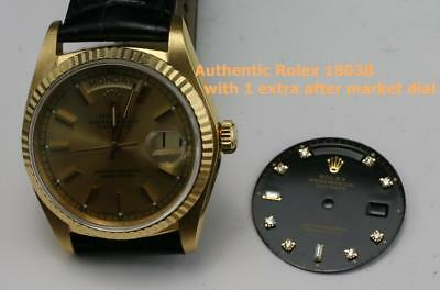Authentic ROLEX 18K Solid Yellow Gold 18038 Day-Date Single Quick Set President