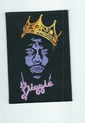 NOTORIOUS B-I-G- BIGGIE SMALLS EMBROIDERED PATCH