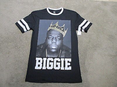 NEW Notorious BIG Shirt Adult Small Biggie Smalls Rap Tee Hip Hop Black Mens 90s