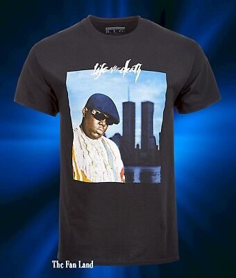 New Notorious B-I-G Biggie Smalls World Trade Center Mens Vintage T-Shirt