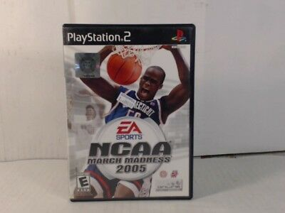 NCAA MARCH MADNESS 2005 Playstation 2 PS2 Complete CIB w Box Manual Stickers o