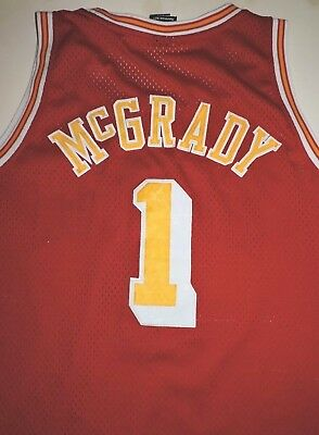TRACY MCGRADY 1 Houston Rockets jersey large sewn vtg Reebok HWC retro 1971