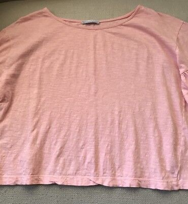 Zara Woman Basic Collection Pretty Ruffled Short Sleeve Top Small