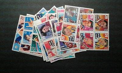 US Postage Lot of 100 29c stamps- Face 29-00- Selling for 21-50- FREE SHIPPING