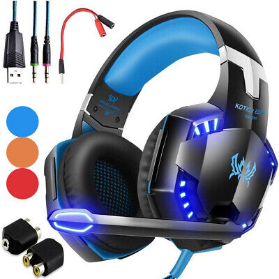 3-5mm Gaming Headset LED Headphones Stereo Surround for PS3 PS4 Xbox one X 360 E