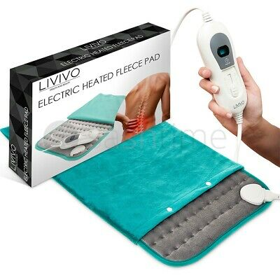 Therapeutic Electric Heat Pad Soothing Muscle Tension Back Neck Pain Relief