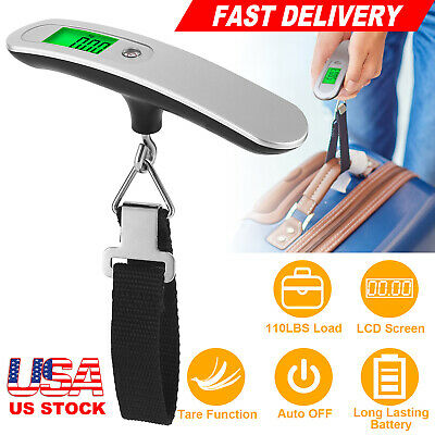 110lb  50Kg Luggage Scale Digital LCD Portable Travel Weight Scale Hand-grip