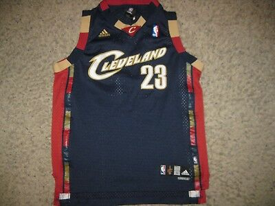 Cleveland Cavaliers LeBron James Adidas NBA Basketball Jersey Team Sewn Youth L