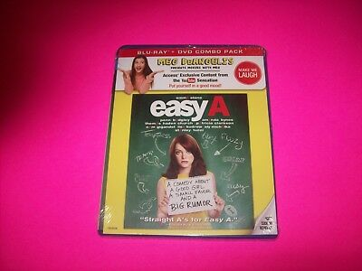 EASY A BLU-RAY MOVIE FACTORY SEALED NEW EMMA STONE ALY MICHALKA AMANDA BYNES