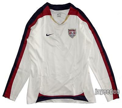 NIKE USA USWNT SOCCER WOMENS LS JERSEY 2007 WORLD CUP TEAM ISSUE AUTHENTIC M
