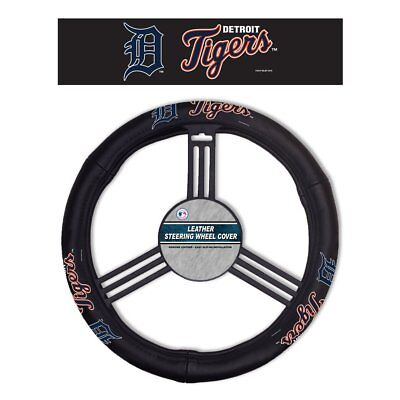 MLB Detroit Tigers Leather Steering Wheel Cover