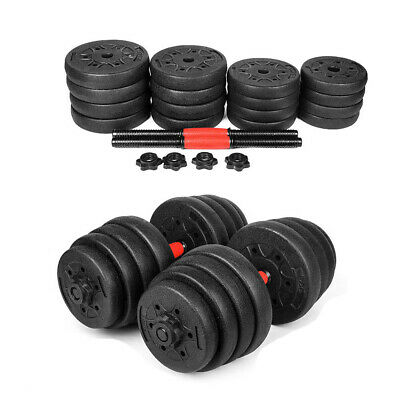 Empty New Weight Dumbbell Set Adjustable 66LBS Gym Barbell Plates Body Workout