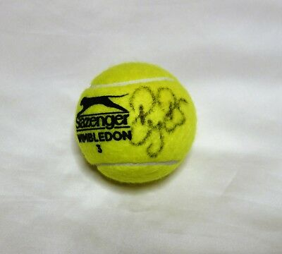 Roger Federer Autographed Wimbledon Tennis Ball with COA