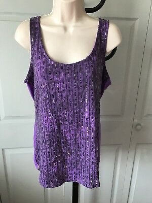 Wet Seal Woman's Tank Top With Front Sequins Size XLarge