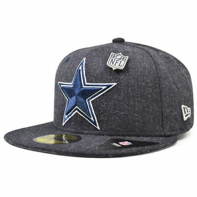 DALLAS COWBOYS 2018 NFL NEW ERA 59FIFTY HEATHERED PIN FITTED HAT CAP 35