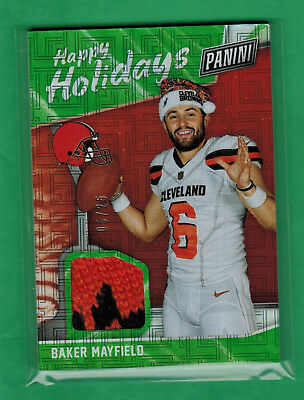 2018 PANINI BLACK FRIDAY BAKER MAYFIELD SANTA HAT RELIC ROOKIE RC 525 BROWNS