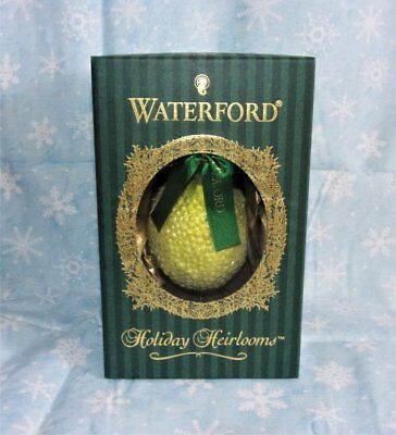 WATERFORD HOLIDAY HEIRLOOMS LIMITED SERIES LEMON GLASS ORNAMENT