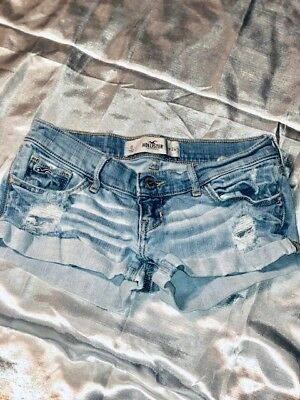 Size 0 Hollister Co- Light denim distressed shorts - FASTFREE SHIPPING