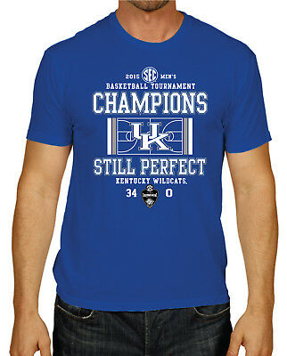 Kentucky Wildcats 2015 SEC Tournament Basketball Champs Blue T-Shirt S