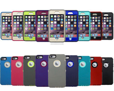 Protective Hybrid Shockproof Hard Case Cover For Apple iPhone 6 6S - 6 6S Plus