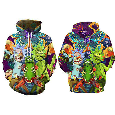 Women Men Rick And Morty 3D Print Hoodie Top Pullover Sweater Unisex Size S-5XL