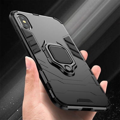 For iPhone 11 Pro X XR XS Max 7 8 6 Plus Hybrid Magnetic Stand Ring Holder Case