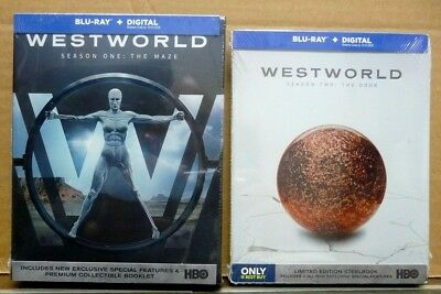 WESTWORLD Season Two The Door Steelbook Blu-ray-Digital Season One The Maze
