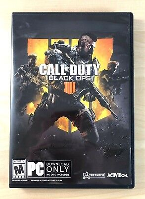 Call of Duty Black Ops 4 IIII PC 2018 Brand New - Never Used