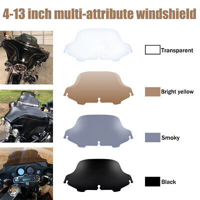 4-5 6 7 8 9 10 Wave Windshield Windscreen For Harley Touring FLHX FLHT