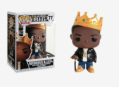 Funko Pop Rocks The Notorious B-I-G- - Notorious B-I-G- with Crown Vinyl Figure