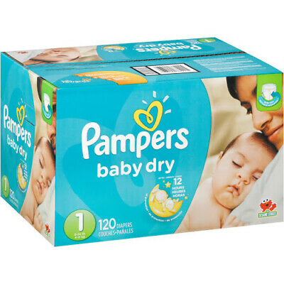 Pampers Baby Dry Diapers Size 1 8 - 14 lbs - 120 pack