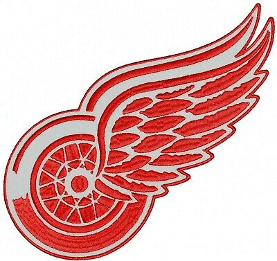 HUGE DETROIT RED WINGS Embroidered IRON-ON PATCH 10-75 X 5 inch Back Patch