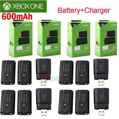 For Xbox One Controller 8x Rechargeable Battery Pack -Charger Charging Dock Kits