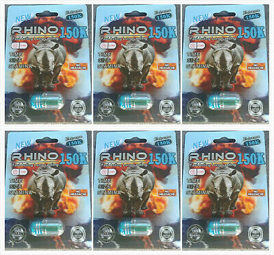 100 Authentic Rhino 99 150K Extreme Power - 6 Pills STIFF HARD SCREAM