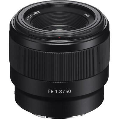 Sony FE 50mm F1-8 Lens for E-Mount Cameras With Free Accessory Bundle