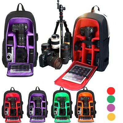 Large DSLR Outdoor Waterproof Camera Backpack Nti-theft Shoulder Bag Case
