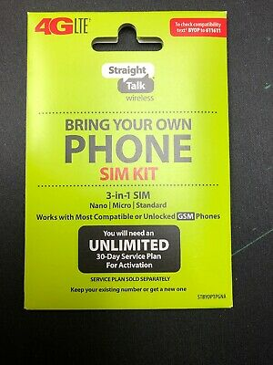Straight Talk SIM Card for AT-T GSM Network Activation Kit Free shipping