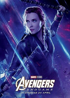 Avengers Endgame movie poster  - 11 x 17 - Black Widow b Scarlett Johansson