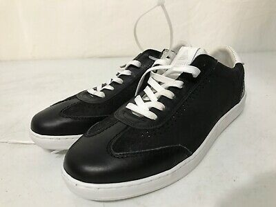 Men's New Black And White Leather Aldo Sneakers-Size 10