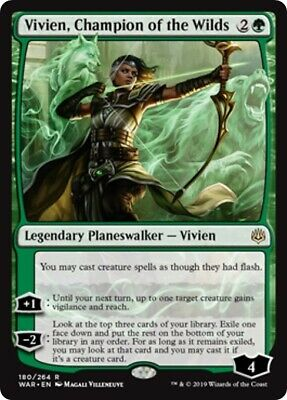 1 VIVIEN CHAMPION OF THE WILDS mtg NM-M War of The Spark Rare x1