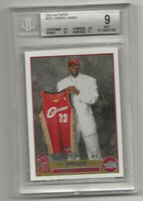 2003-04 TOPPS 221 LEBRON JAMES ROOKIE CARD RC BGS 9 MINT
