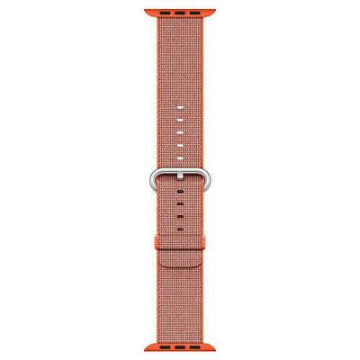 Genuine Apple Woven Nylon for Apple Watch 42mm Space OrangeAnthracite MNKF2AMA