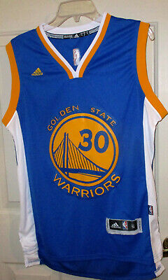 Mens NBA Golden State Warriors Stephen Curry Adidas Royal Blue Swingman Jersey-S