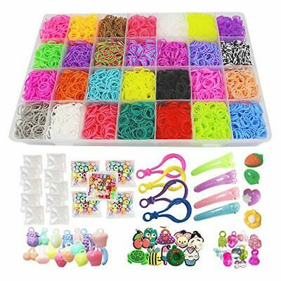 Loom Kit Rubber Bands Refills Set for Kids Bracelet Loom Craft 10000pcs in 28