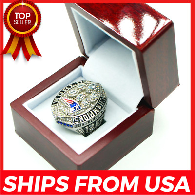 FROM USA - 2019 NEW ENGLAND PATRIOTS Ring Super Bowl 2018 Championship Official