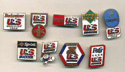 USA Soccer Federation World Cup Soccer Sponsor 9 Pin Set