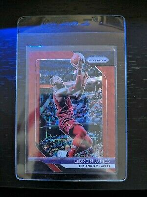 2018-19 Panini Prizm LeBron James Red Wave SP Refractor Parallel 6