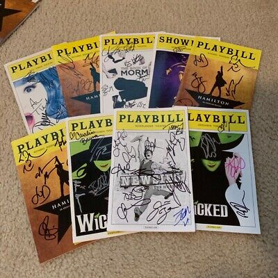 1 Randomly Selected Blind AUTOGRAPHEDSigned Broadway Playbill
