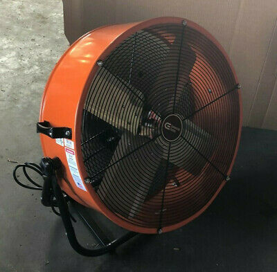 24 Inch Orange Direct Drive Industrial Grade Fan w 180 degree tilt
